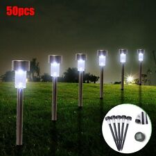 Bright Outdoor Stainless Steel LED Solar Light Garden Yard Landscape Lawn Path