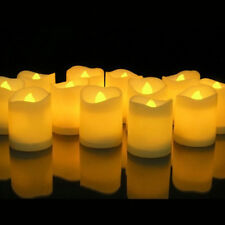Novelty Place LED Flickering Votive Candle Flameless Tealight Candles 100+ hours
