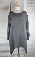 Format S/S or L/S Flax Linen Tunic in 22 Colors S M L XL by Blue Fish Red Moon