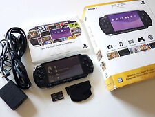Original Sony PSP 3001 Console Piano Black w Battery Charger Card Manual Box Set
