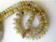 Natural Gold Rutilated Quartz Rondelle Beads 8.5mm to 14mm 18 Inch Strand GDS675