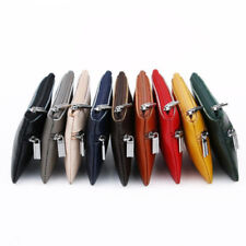Women Genuine Real Leather Small Coin Card Key Ring Wallet Pouch Mini Purse Zip