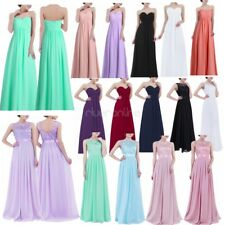 Women Long Chiffon Bridesmaid Formal Ball Gown Party Cocktail Evening Prom Dress