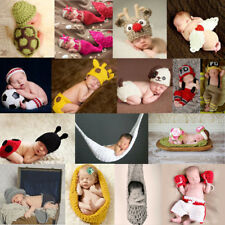 Newborn Baby Girl Boy Handmade Crochet Knit Costume Photography Prop Outfits