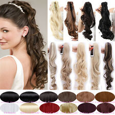 Summer Long Ponytail Style Straight Clip in Claw On Pony Tail Hair Extensions A3