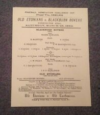 REPLICA COPIES - FAC FINAL PROGRAMMES -  1882 - 1914 - FROM £1.99 EACH