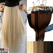 "100% Premium One Piece Clip in Remy Real Human Hair Extensions 16/18/20/22""SK237"