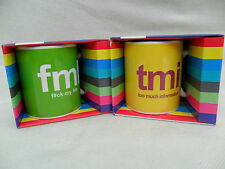 FUNNY MUG GIFT BOXED TMI / FML SLANG TEXT SPEAK YELLOW GREEN RUDE NOVELTY COMIC