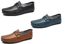 New Mens Driving Moccasin Loafers Flat Casual Shoes Leisure Slip On Leather