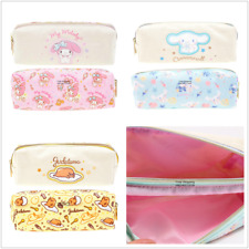 SANRIO GUDETAMA MY MELODY CINNAMOROLL DOUBLE ZIPPER PENCIL BAG POUCH 6946