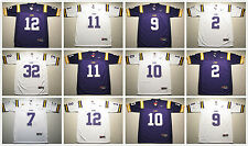 Men's NCAA LSU Louisiana State University Tigers Football Jersey Sewn-on Pick #