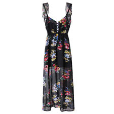 Summer Gallus Floral Printing Backless Women's Dress One-piece Dress