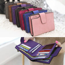 Women Girl Leather Lovely Hasp Short Wallet Trifold Coin Credit Card Holder