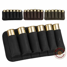 Leather Cartridge Belt Holder Ammo Hunting Shotgun Pouch Case 12 Ga