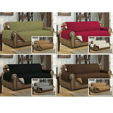 Reversible Microfiber Pet Dog Cat Couch Furniture Protector with Strap, 4 Colors