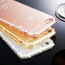 Bling Clear Crystal Glossy Transparent Back Case Cover For iPhone 6 6s 4.7 Plus