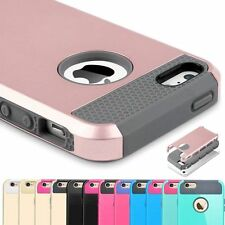 Shockproof Hybrid Rugged Rubber Hard Back Cover Case Skin for Apple iPhone 5s SE