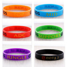 LOL League of Legends Wristband Bracelet with ADC, JUNGLE, MID, SUPPORT, TOP J4