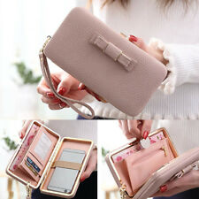 Women Lady Leather Wallet Clutch Long Purse Phone Card Coin Holder Bags Handbags