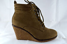 Wedge Heel Women's Shoes Ankle Boots Wedge Sneaker Size 36-41 Khaki New A.5066