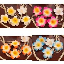 Wholesale 100Pcs Floating Frangipani Plumeria Hawaiian Flower Heads Wedding 7cm