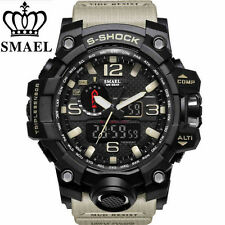 SMAEL Mens Sports Watch Dual Display Analog Digital LED Electronic Wristwatch