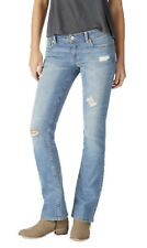 AEROPOSTALE WOMENS JEANS PANTS DENIM BOOT CUT MEDIUM WASH DESTROYED DISTRESSED