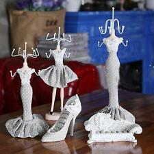 High-heel Lady Figure Dress Earring Necklace Mannequin Jewelry Display Organizer