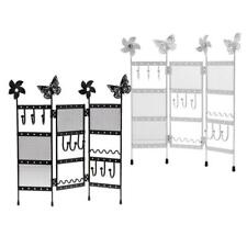 3 Panel Folding Jewelry Hanger Stand Holder for Earrings Necklaces Bracelets