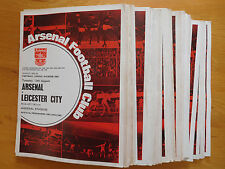 Arsenal Home Programmes 1968/69