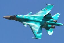 Russian Sukhoi Su-34 Fighter - Plane Poster Print - Military Jet Photo Art