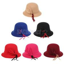 Autumn Winter Wram Cap Womens Bowler Hat Church Wedding Floreal Bucket Hat