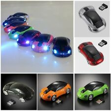 2.4G 1600DPI Mouse USB Receiver Wireless Light LED Car Shape Optical Mice