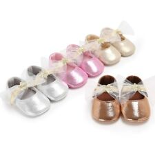 0-18M Infant Baby Kid Bling PU Shoes Girl Toddler Soft Sole Crib Shoes Prewalker