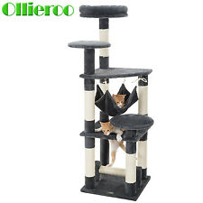 Ollieroo 52'' Cat Climbing Tree Tower Condo Scratcher Furniture Kitten House