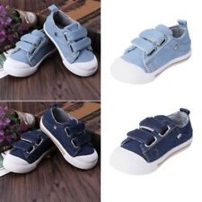Toddlers Baby Boys Girls Cowboy Canvas Prewalker Sneakers Soft Rubber Sole Shoes