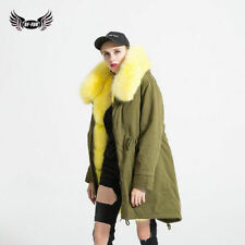 Whole Real Blue Liner And Fur Collar Fox+Rabbit Fur Jacket Coat Outwear C0312