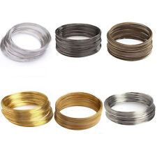 100/500 Loops Silver/Gold Plated Memory Steel Wire Cuff Bangle Bracelet DIY 60mm
