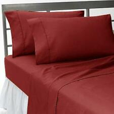 800 TC EGYPTIAN COTTON COMPLETE BEDDING COLLECTION IN ALL SETS & BURGUNDY COLOR