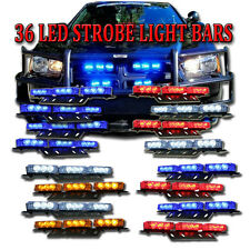 Zone Tech 36 LED Car Emergency Grille Strobe Lights Amber White Blue Red White
