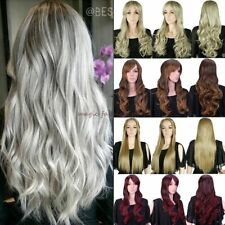 Fashion Long Synthetic Hair Full Wigs Anime Cosplay Straight Curly Blonde UK zsr