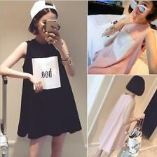 New Korean Summer Women/Girl Solid casual Sleeveless long T-shirt Top Blouse J04