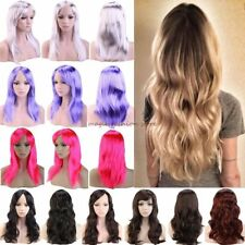 Fashion Women Full Wig Charming Colors Long Straight Cosplay Costume Wigs cdvt5