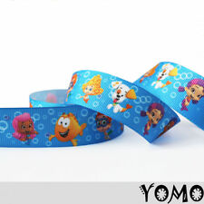 """1""""25mm Bubble Guppies Printed Grosgrain Ribbon 10/50/100 Yards Hairbow Wholesale"""