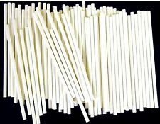 "3"" x 5/32"" Rolled Paper Sticks For Lollipop Cake Pop or Sucker Candy Made in USA"