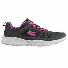Slazenger Ladies Force Mesh Running Shoes Laces Fastened Padded Ankle Collar