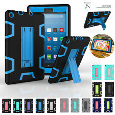 For Amazon Kindle Fire HD 8 / Fire 7 Shockproof Rubber Stand Hard Case Cover NEW