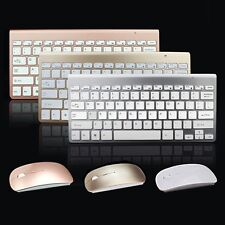 Mini Wireless Keyboard and Cordless Optical Mouse USB Receiver Desktop For PC