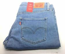 Genuine Levis 721 Original Women Skinny High Rise Jeans Vintage Blues