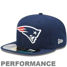 NEW ENGLAND PATRIOTS NFL NEW ERA 59FIFTY NAVY PERFORMANCE FITTED HAT/CAP NWT